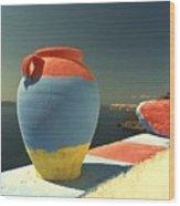 Santorini Color Wood Print