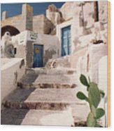Santorini Entryway Wood Print