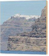 Santorini Fira Wood Print