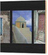 Santorini Memories Wood Print