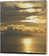 Santorini. Sunlight Wood Print