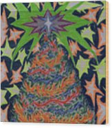 Sapin Noel 2 Wood Print