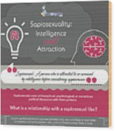 Sapiosexuality Intelligence And Attraction Wood Print