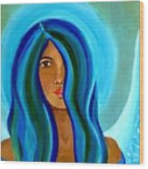 Sapphire Angel Wood Print