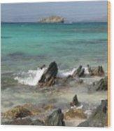Sapphire Beach Wood Print
