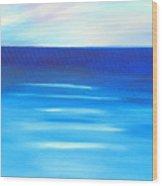 Sapphire Horizon Wood Print