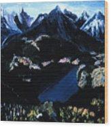 Sapphire Lake   Wood Print
