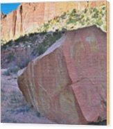 Sapphire Rock Wood Print
