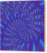 Sapphire Swirl Wood Print
