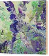 Sapphire Violet Wood Print