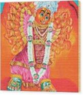 Saptashrungi Devi Nasik Maharashtra Wood Print by Kalpana Talpade Ranadive