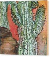 Saquaros Wood Print
