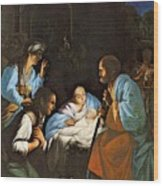Saraceni Carlo The Birth Of Christ Wood Print