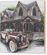 Sarah Elizah The Packard Wood Print by Mike Hill