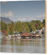 Saranac Lake Wood Print