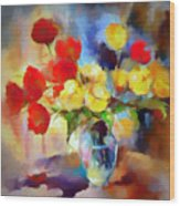 Sara's Colorful Bouquet  Wood Print