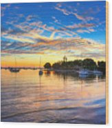 Sarasota Bay Wood Print by Jenny Ellen Photography