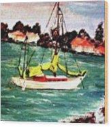 Sarasota Bay Sailboat Wood Print