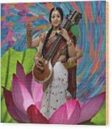 Saraswati Wood Print
