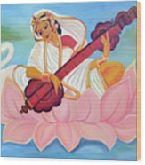 Saraswati Wood Print by Shruti Prasad