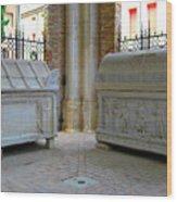 Sarcophagi At Dante's Tomb Wood Print