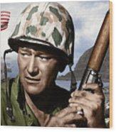 Sargent Stryker U S M C  Iwo Jima Wood Print