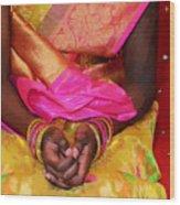 Sari Ceremony Wood Print