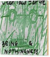 Sartre Poster Jp  Wood Print
