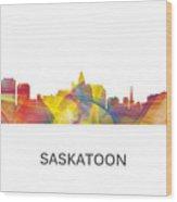 Saskatoon Sask.skyline Wood Print