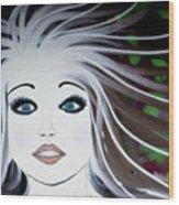 Sassy Sapphire Wood Print