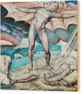 Satan Smiting Job With Sore Boils Wood Print
