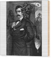 Satan Tempting John Wilkes Booth Wood Print