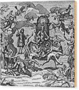 Satan With Cavorting Dancers, 18th Wood Print
