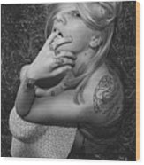 Satanic- Godess Wood Print