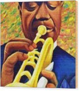 Satchmo, Louis Armstrong Painting Wood Print