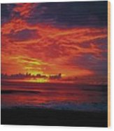 Satellite Beach Sunrise Wood Print