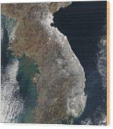 Satellite View Of Snowfall Along South Wood Print