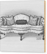 Satin Chippendale English Sofa Wood Print