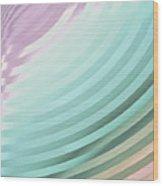 Satin Movements Sky Blue Wood Print