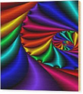 Satin Rainbow Wood Print