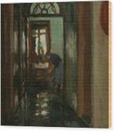 Saturday  An Interior View Of Garstin's Home  Wood Print