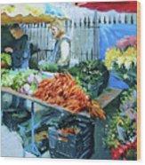 Saturday Market Wood Print