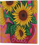 Saturday Morning Sunflowers Wood Print