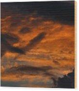 Saturday Sunset Wood Print