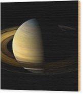 Saturn Enhanced Wood Print
