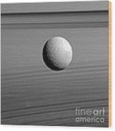 Saturns Moon, Tethys Wood Print