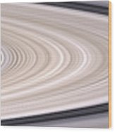 Saturns Ring System Wood Print
