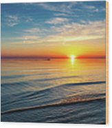 Sauble Beach Sunset 4 Wood Print