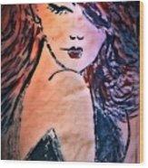 Saucy Lady Wood Print