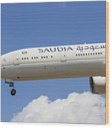 Saudi Arabian Airlines Boeing 777 Wood Print